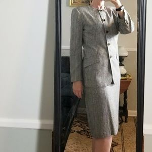Vintage Michelle Stuart Skirt Suit Glen Plaid